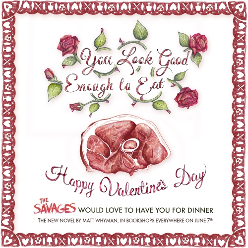 Savages valentine's card pork CORRECTED